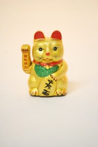 The ubiquitous waving cat, widely available in the Sierra region of Ecuador.